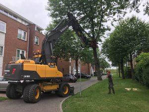 Wegrijden met boom op 5 juni 2018